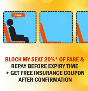 Just pay 20% To Book Bus Ticket