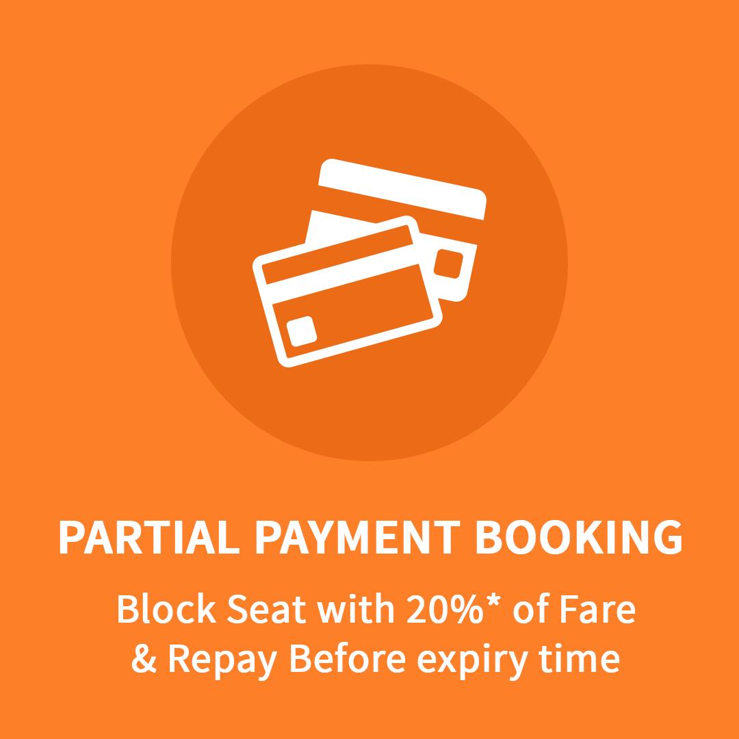 Partial Payment in eTravelSmart