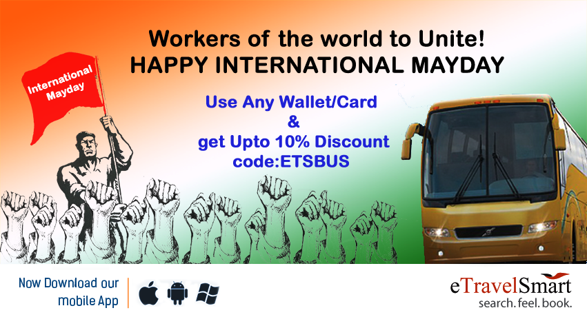 Mayday bus booking offer from eTravelSmart